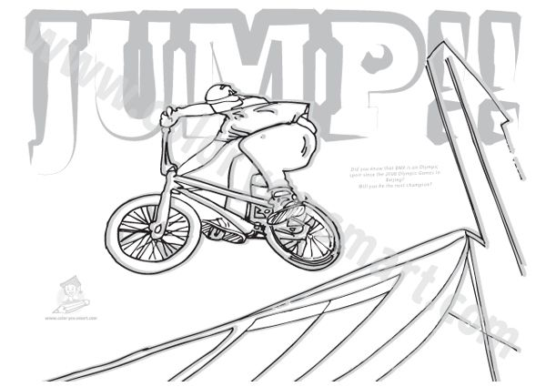 Bmx Bike Colouring Pictures Bmx Bikes Bmx Coloring Pages