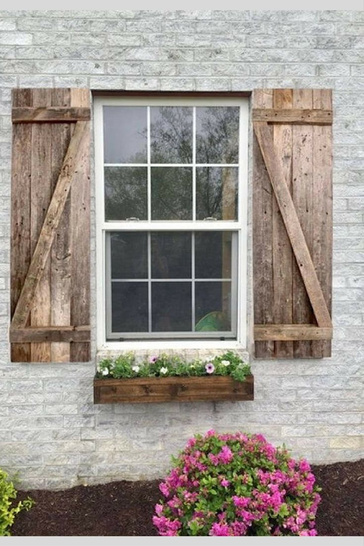 Rustic Wood Shutters Decorative Wood Shutters Farmhouse Window Shutters Affiliate Window Shutters Decor Window Shutters Exterior Shutters Exterior