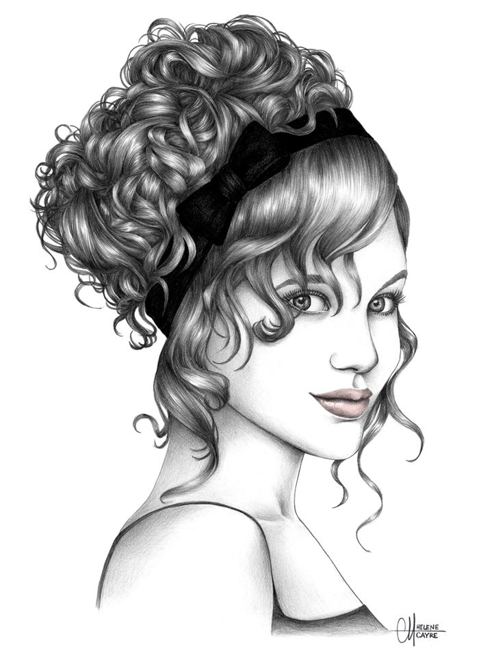 Portfolio Hélène Cayre Drawings Hair Pinterest