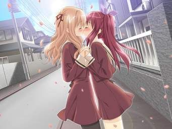 Anime Girl X Girl Kiss