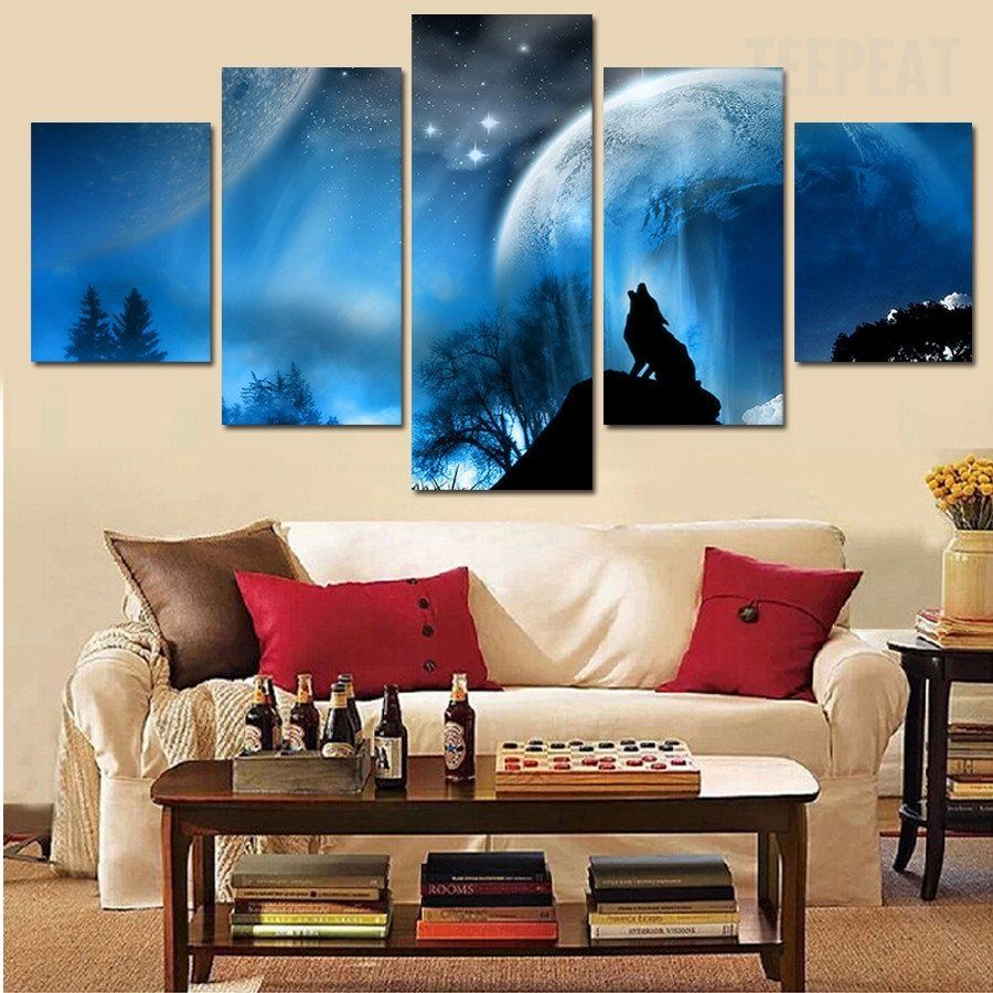 The Enchanting Wolf - 5 Piece Canvas