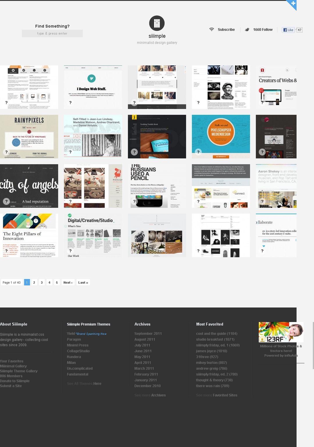 シンプルなWebデザインまとめサイト「Siiimple」 Web design, Creative studio