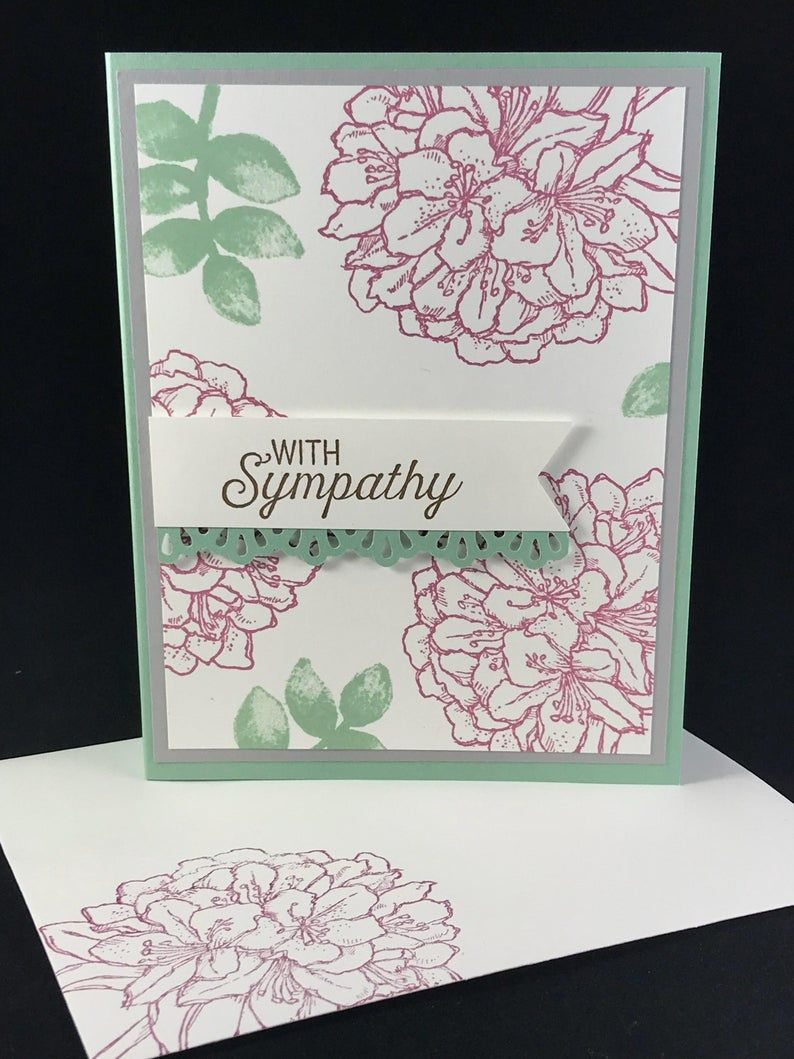 Religious Sympathy card, sympathy greeting cards stampin up,