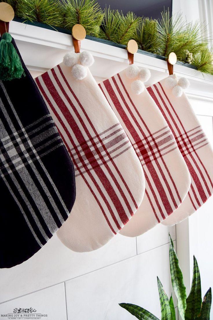 DIY Modern Christmas Stocking Holder Christmas stocking