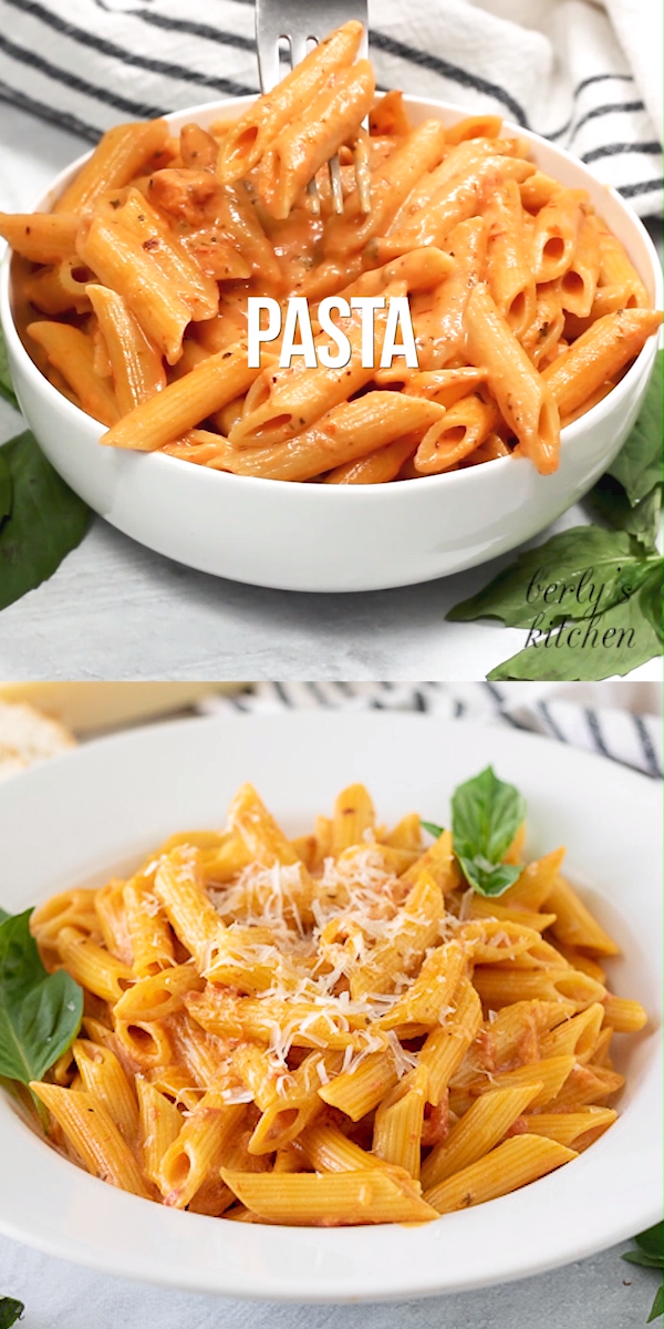 Our favorite creamy tomato pasta prepared in a pressure cooker in less than 20 minutes. A simple weeknight dinner that's sure to please the whole family! Food video, recipe video #berlyskitchen