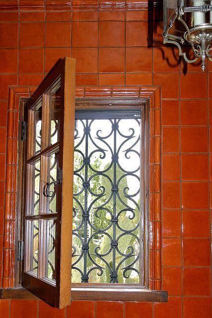 powder room window with cactus | Iron doors, Iron windows ...