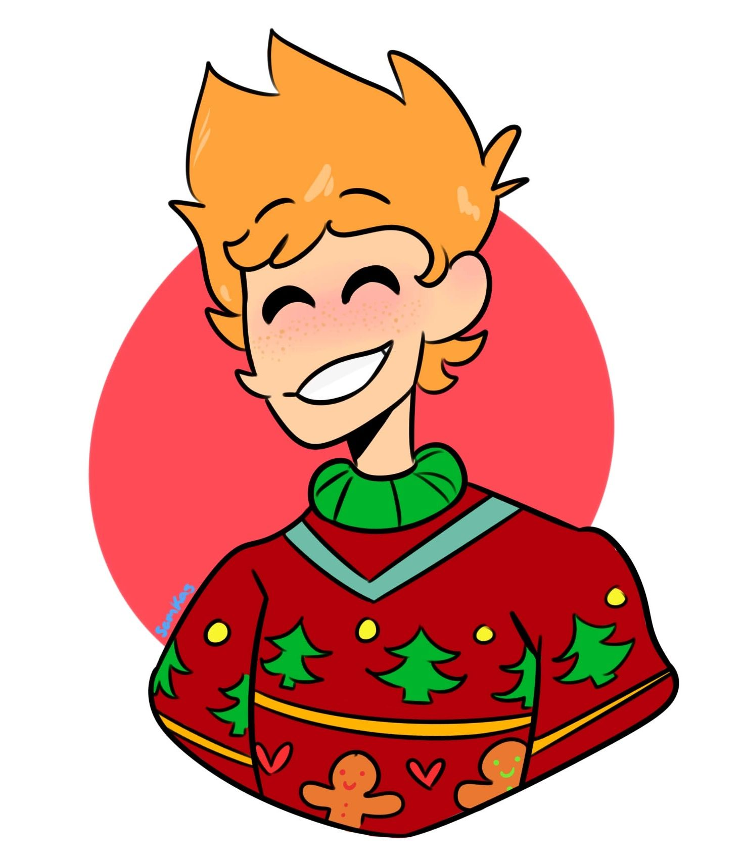 Matt with a ugly Christmas sweater by Samkas Eddsworld