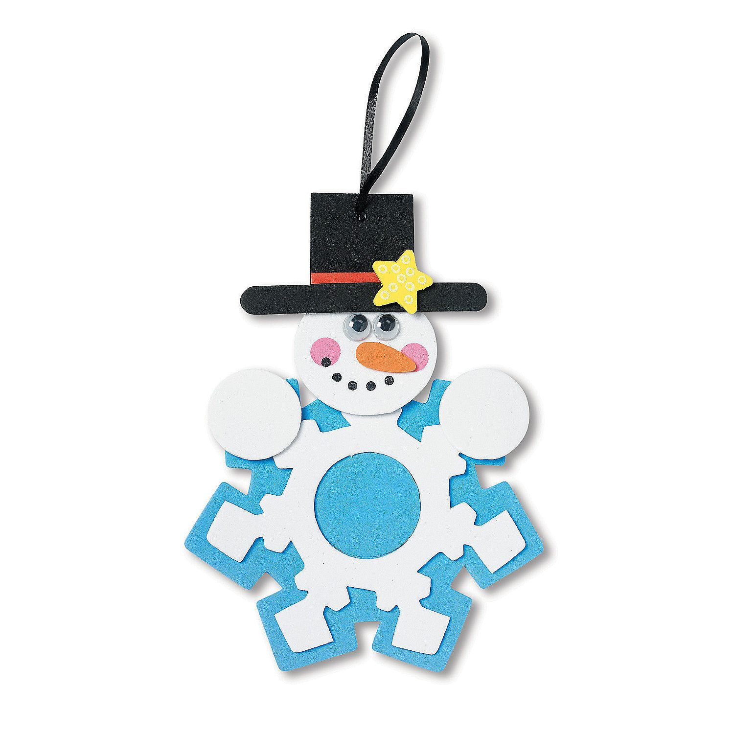 Snowman Snowflake Picture Frame Christmas Ornament Craft Kit Oriental Trading In 2021 Picture Frame Christmas Ornaments Christmas Ornament Crafts Ornament Crafts