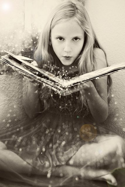 There is magic in books. This would be a great picture to recreate!