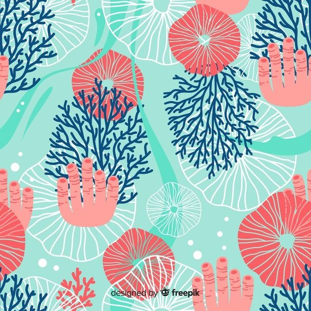 Download Flat Coral Pattern for free in 2020 | Coral ...