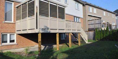 Louvered Deck Railings | Deck railings, Deck, Outdoor decor
