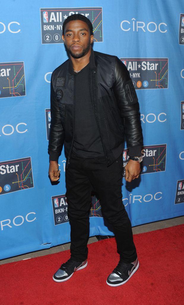 efb3b3ad3e7174 Chadwick Boseman in the Nike SB Dunk High Tin Man