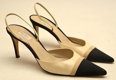 MaxMara Leather Slingback Pumps sale manchester great sale discount choice hjvBsK