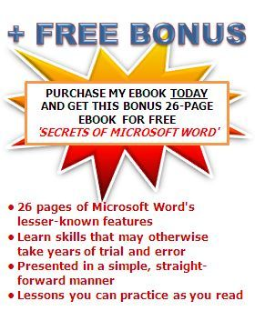 Instant download Free Microsoft Word Secrets Ebook | Computers