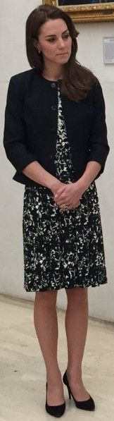 14 June 2016 - Black & White Tory Burch Sophia Dress