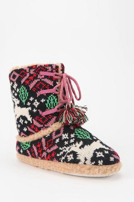 fair isle slipper-sock boot | Amelia Mouse | Pinterest | Fair ...