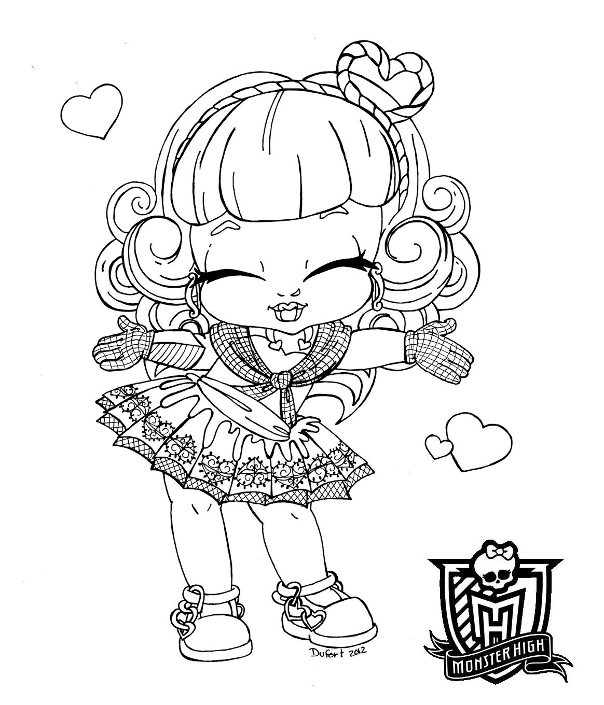 Desenhosuex Desenhos Monster High Para Colorir Monster High