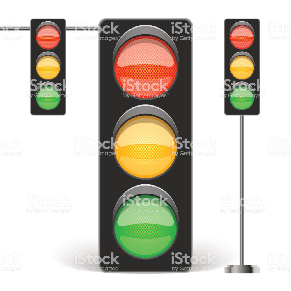 Three Types Of Traffic Light Isolated On White Vector Illustration Traffic Light Vector Illustration Free Vector Art