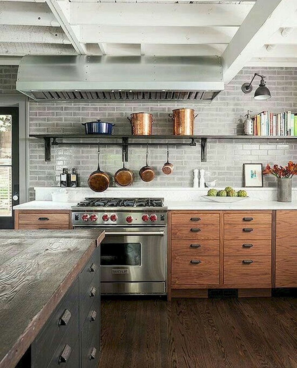 Awesome 60 Awesome Modern Kitchens Ideas Remodeling On A Budget Https Livingmarch Com 60 Aweso Rustic Modern Kitchen Industrial Kitchen Design Rustic Kitchen