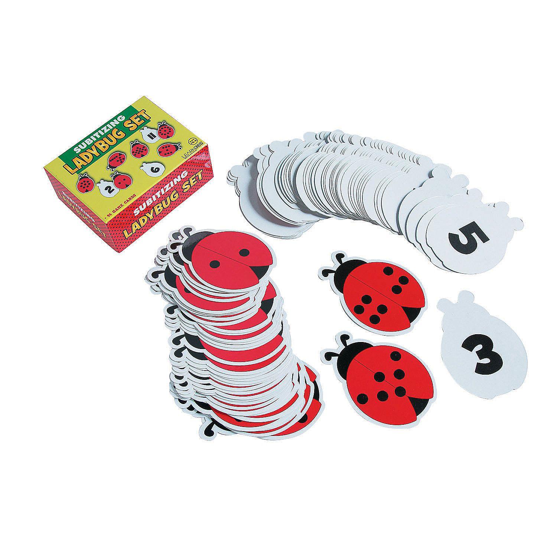 Subitizing Ladybug Set Orientaltrading Com Subitizing Ladybugs Kindergarten Oriental Trading [ 1500 x 1500 Pixel ]