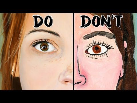 Do's and Don'ts of Realistic Eye Painting Art - YouTube