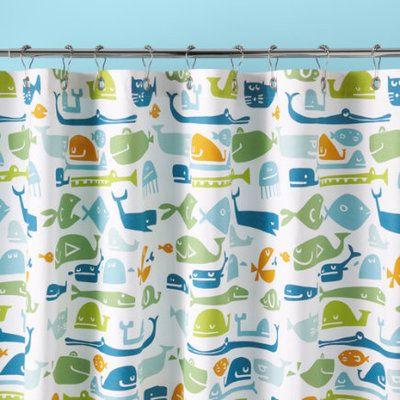Kids Bathroom Accessories Kids Fish Pattern Shower Curtain Fish
