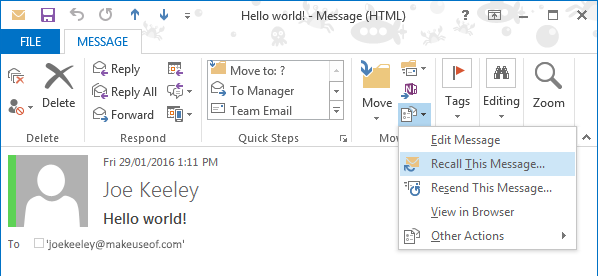 How To Recall An Email In Outlook After You Sent It Computer