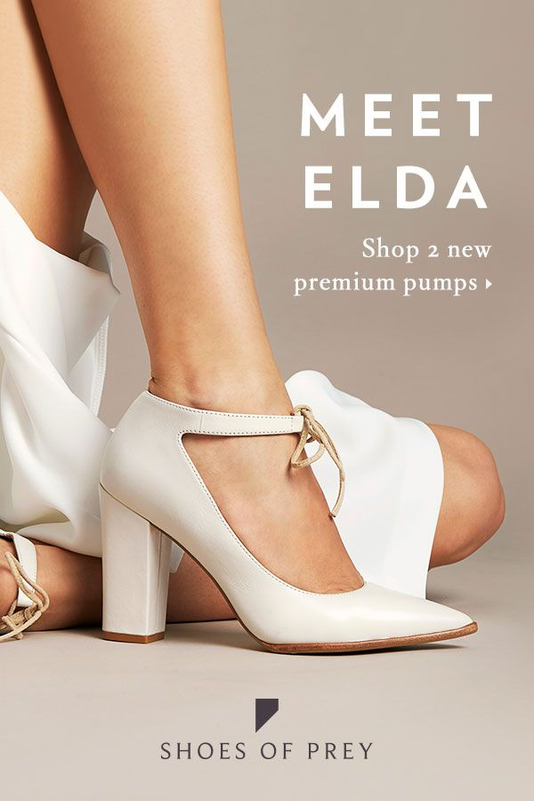 801e8ffa8c6 Shoes of Prey. All about the enhancement. Meet Elda and Sax   our new pumps  with three luxe features making them more desirable than ever.