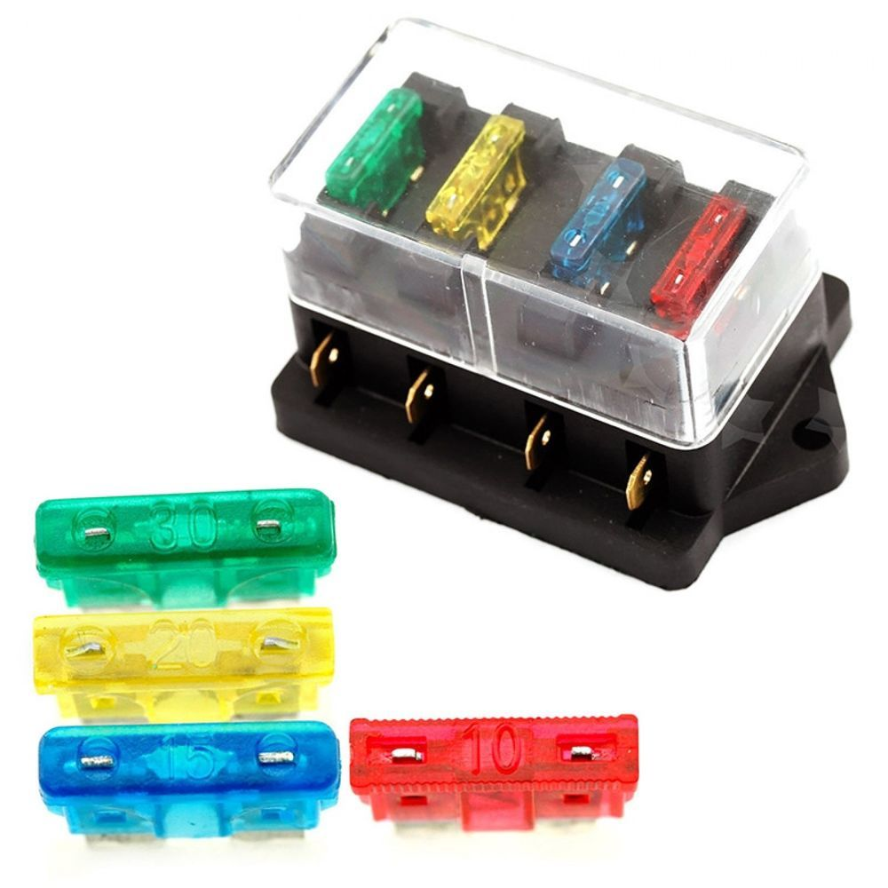 Fuse Box Holder Car Truck Auto Blade Circuit Standard Fuse Case Box  Electric New #UnbrandedGeneric