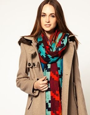 Pieces Puk Graphic Scarf - StyleSays