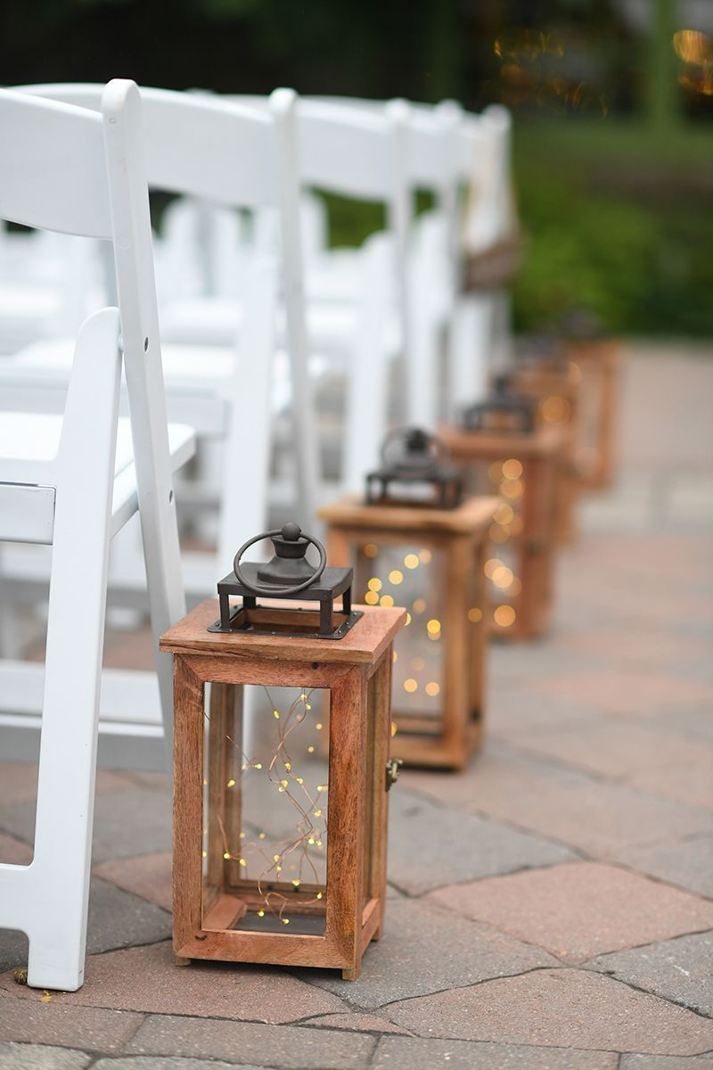 Wedding Reception At Wedding Aisle Outdoor Lanterns Wedding
