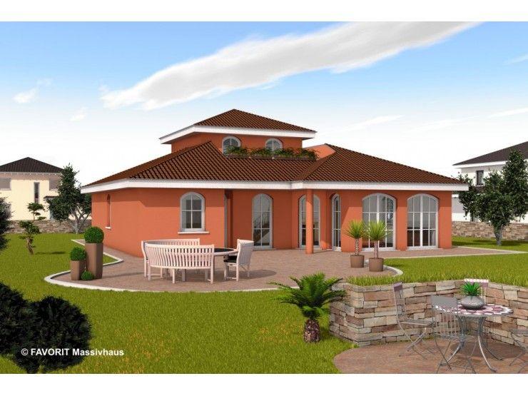 Massivhaus Mediterran ambiente 136 einfamilienhaus bau braune inh sven lehner