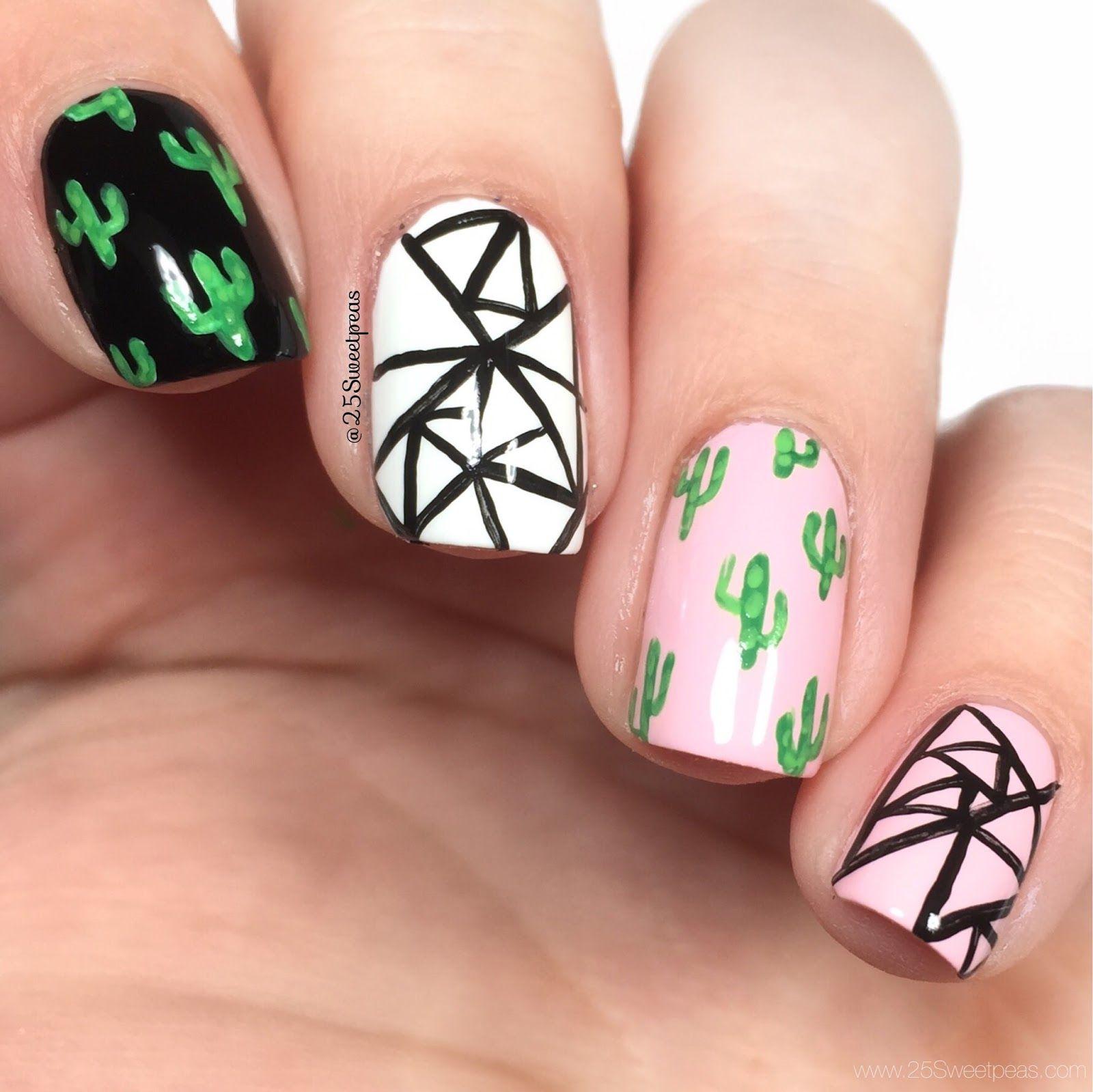 Cute Cactus Nail Art Succulent Nails Manicure Nail Designs