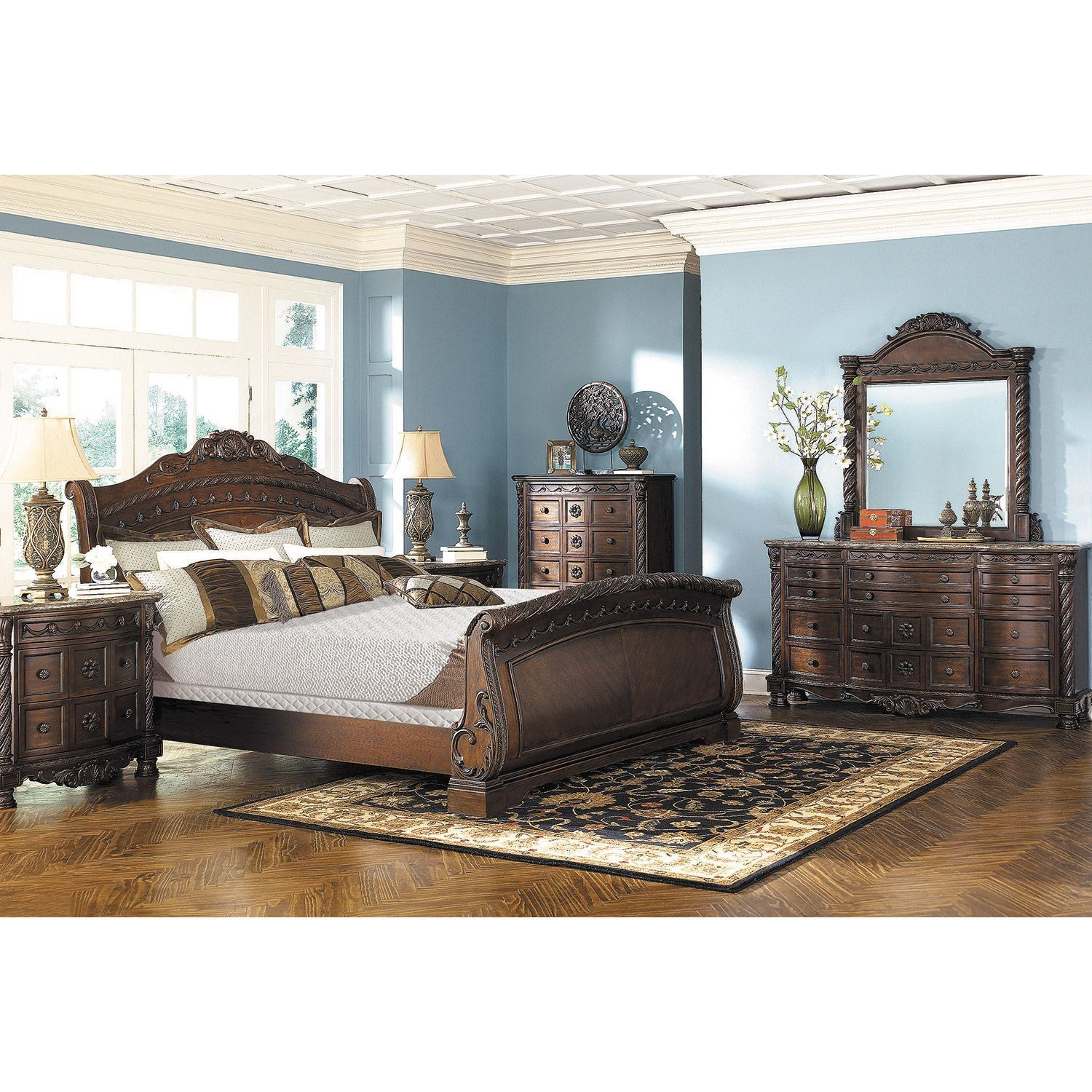 North Shore California King Sleigh Bed Bedroom sets, 5