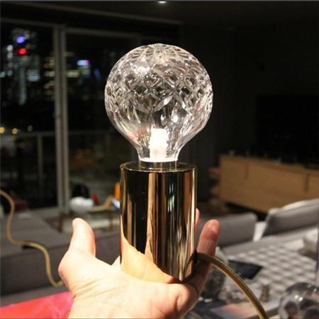 Luxe Crystal Bulb Pendant Lee Broom Http Www Oliveetoriel Com 2013 07 Look Into My Crystal Bulb Html Bulb Lamp Table Lamp