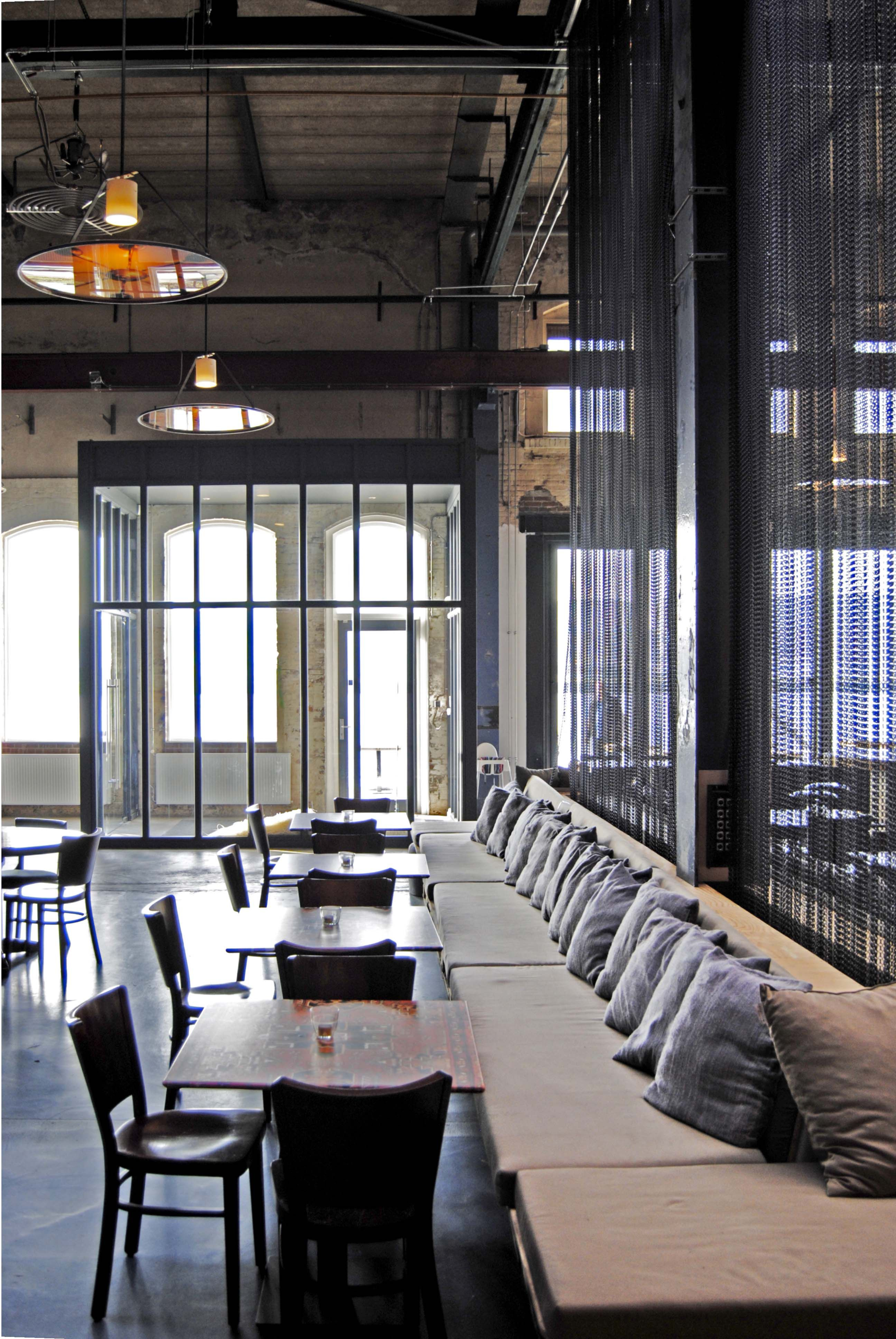 Like The Long Wall Of Seating But With Wood Dividers Between Couches  Restaurant Seating, Waterfront