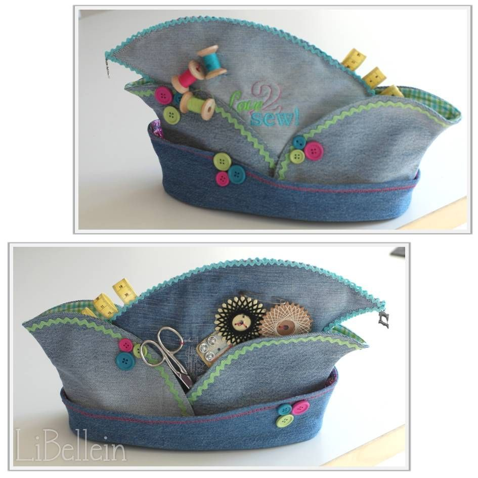 Karnevalsmütze aus alten Jeans / Carnival's hat made from old jeans / Upcycling