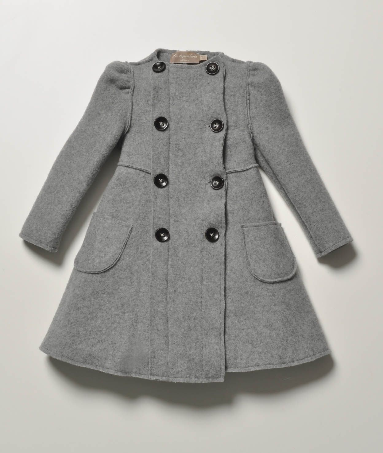La Stupenderia Girls Grey Mathilde Wool Coat | Kiddo... Mix n ...