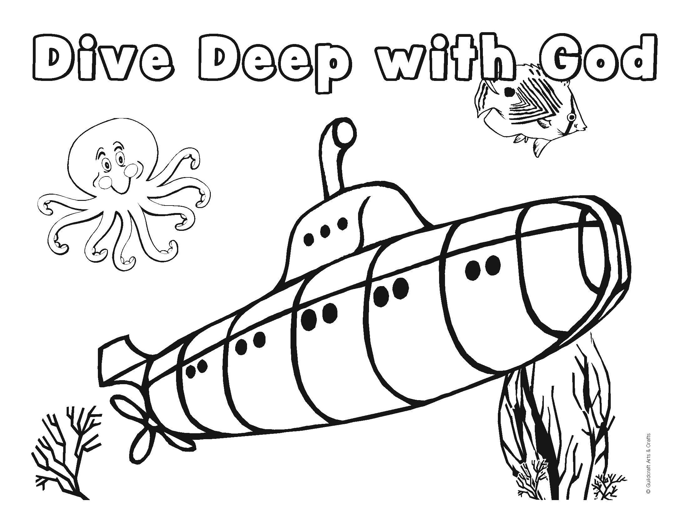 preschool underwater coloring pages - photo#29