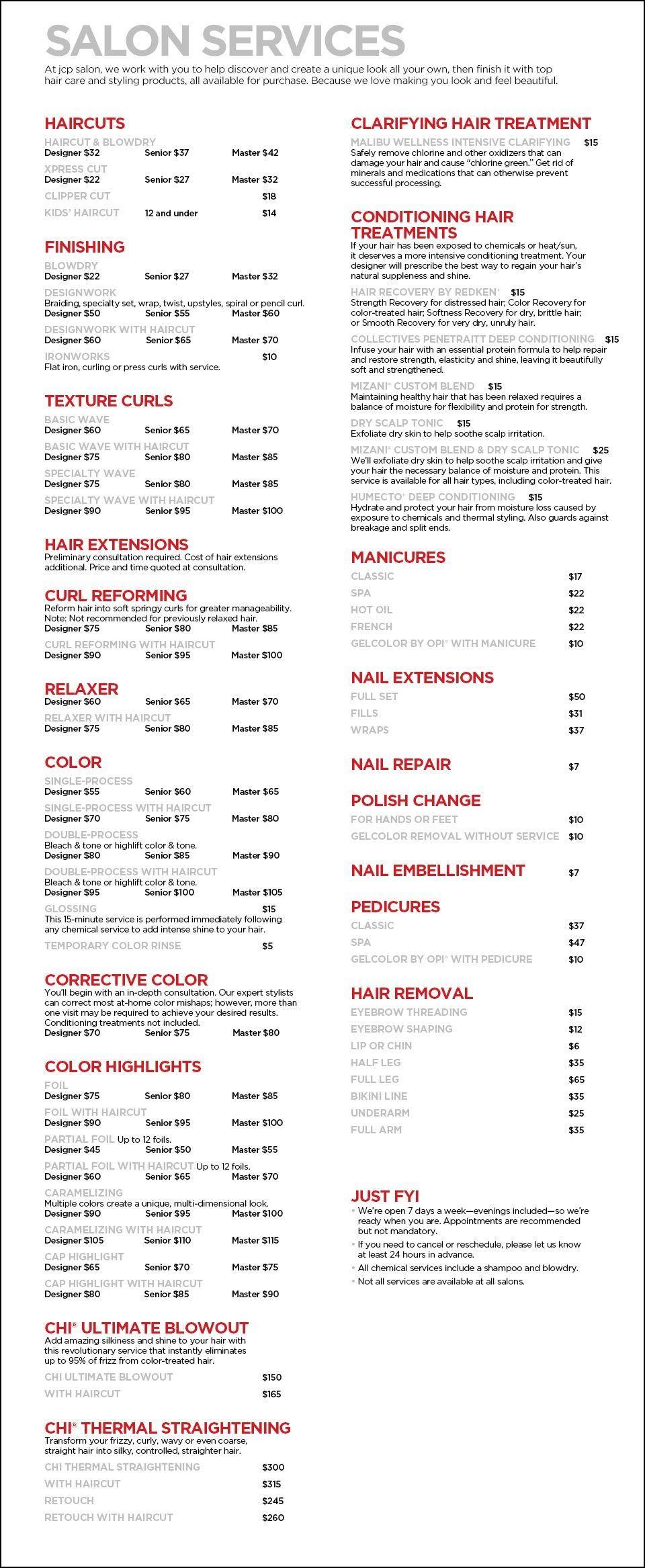 At Home Haircut Price Haircut Models Hair Salon Prices Salon Services Hair Salon Decor