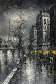 مناظر خلابه بالابيض والاسود بحث Google Black And White Painting Paris Cheap Paintings