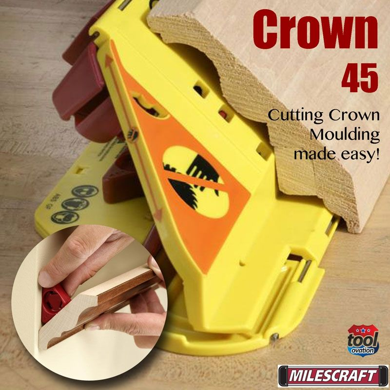 Crown 45 mitre saw jig moldings and trim mold making