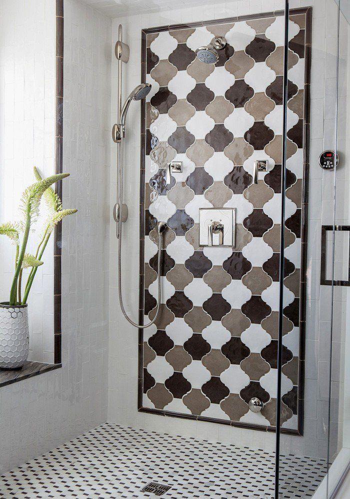 Marokkanische Fliesen  Das Gewisse Etwas In Ihrem Wohnung Design, Braune  Fliesen Im Bad, Duschwand Fließen, Fliesen In Braun Und Weiss Kombinieren,  ...
