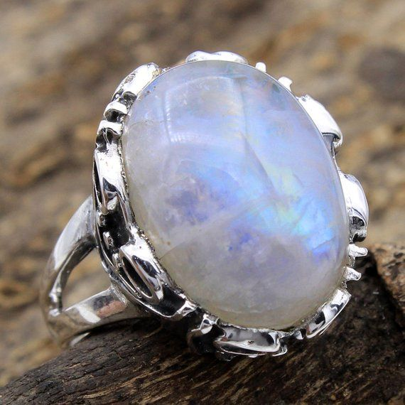 Natural White Druzy 925 Sterling Silver Genuine Gemstone Gift Ring size 4 to 13