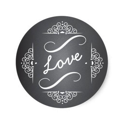 Elegant Love Chalkboard Envelope Seal Sticker | Zazzle com