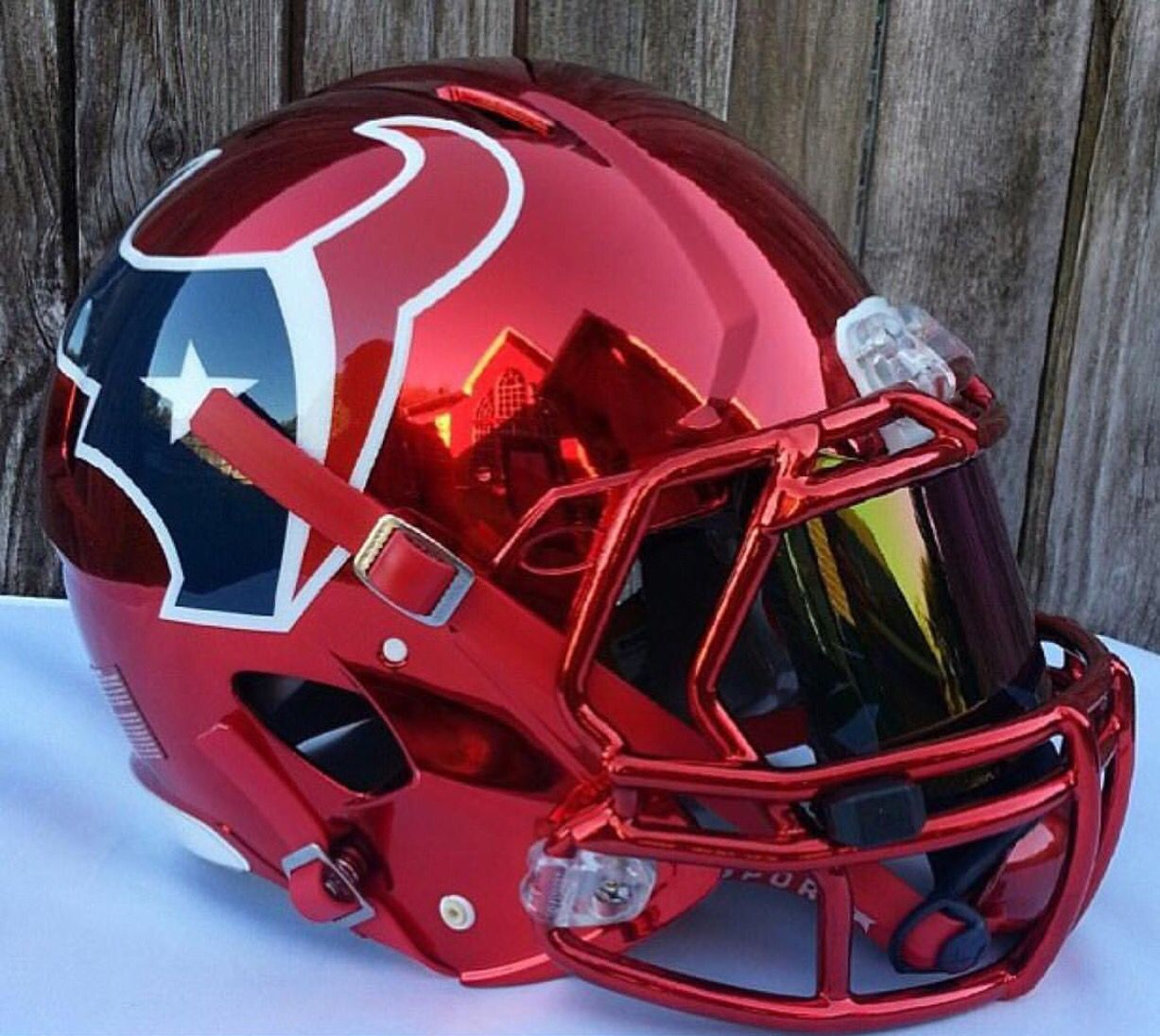Houston Texans Concept Helmet Nice Red Chrome Instead Of