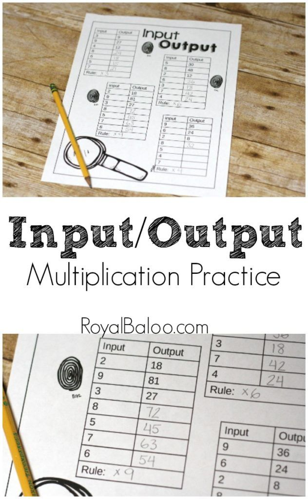 Engaging Multiplication Practice Input Output Printables Royal Baloo Multiplication Practice Math Printables Fourth Grade Math Input output machines worksheets
