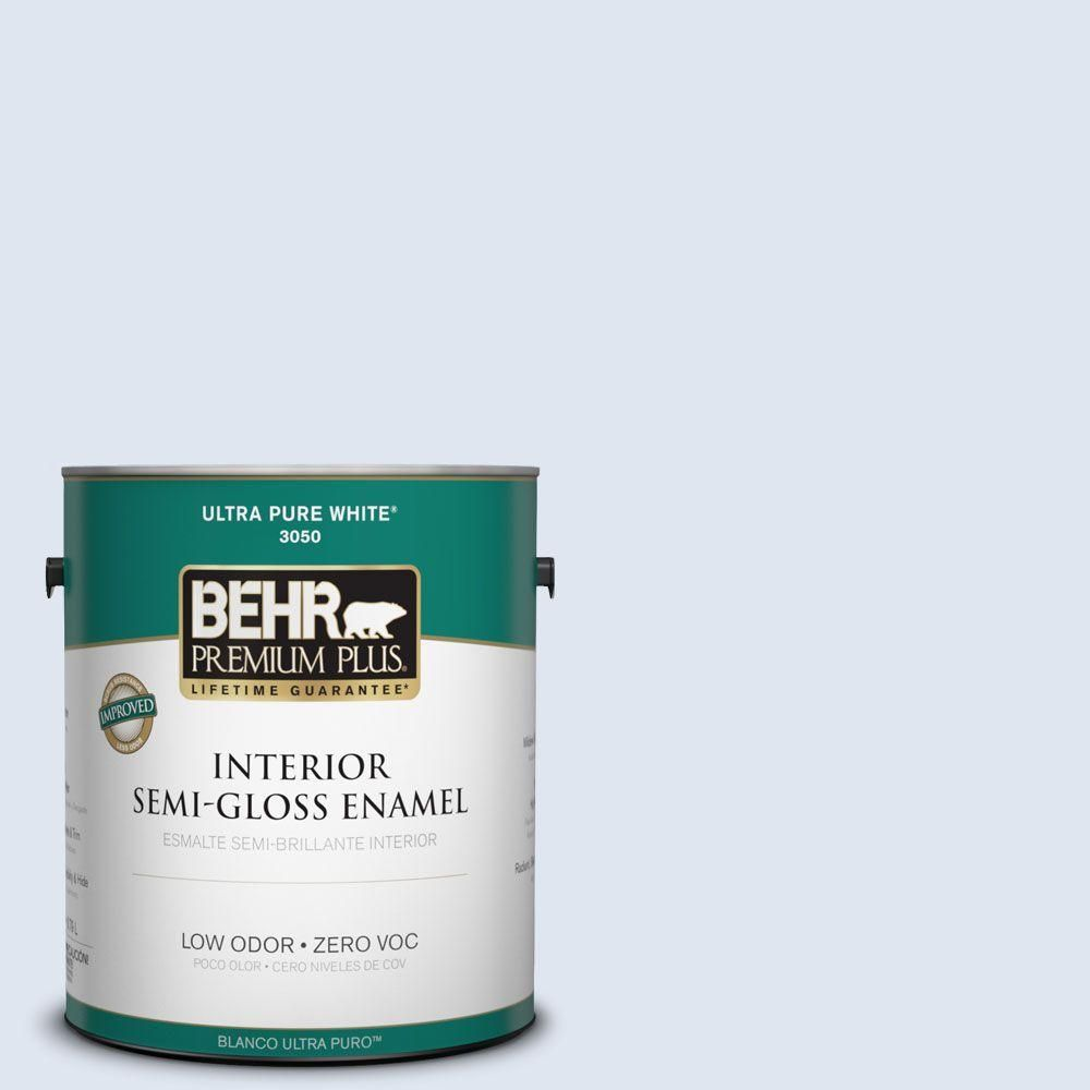BEHR Premium Plus 1-gal. #580C-1 Diamond Light Zero VOC Semi-Gloss Enamel Interior Paint