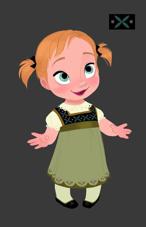 Baby Anna, Walt Disney.  Would love to make this for Addy for our trip to Disney - her princess dress.