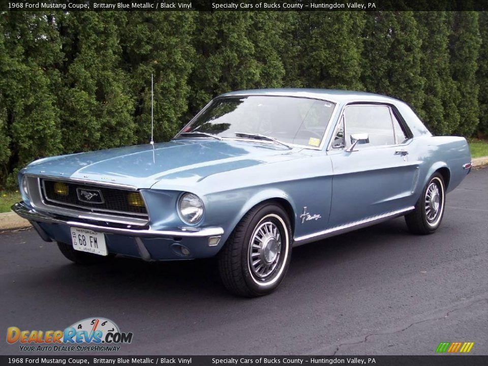 1968 ford mustang coupe | 1968 Ford Mustang Coupe Brittany Blue ...
